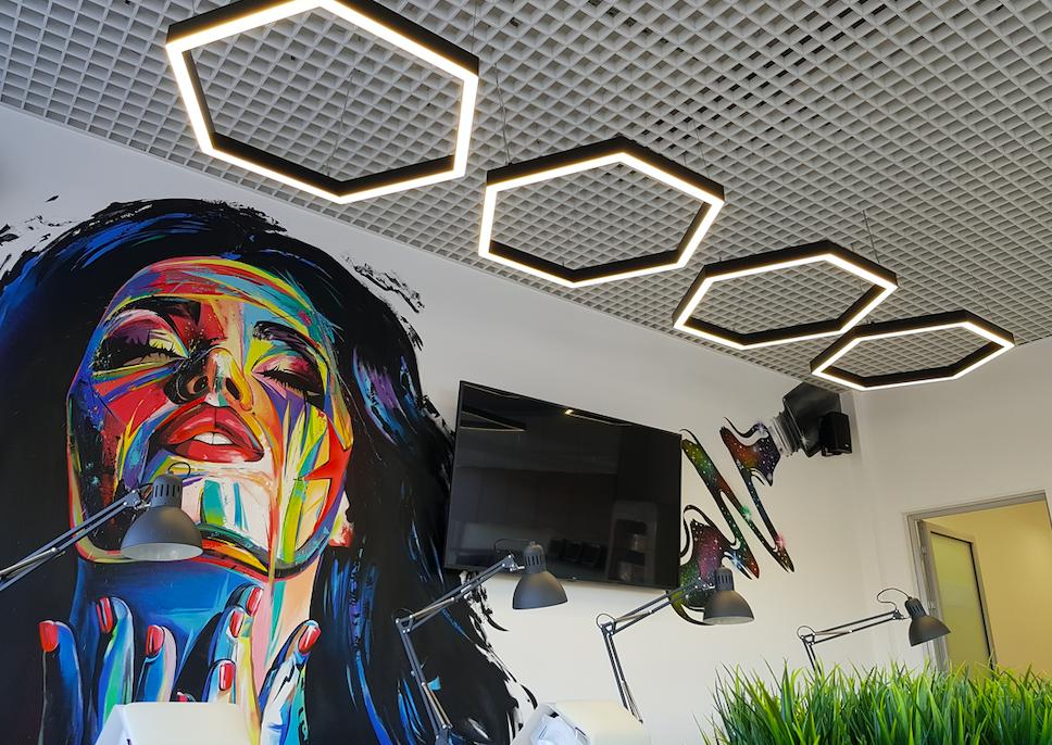 Светодиодное освещение Центр обучения стилистов